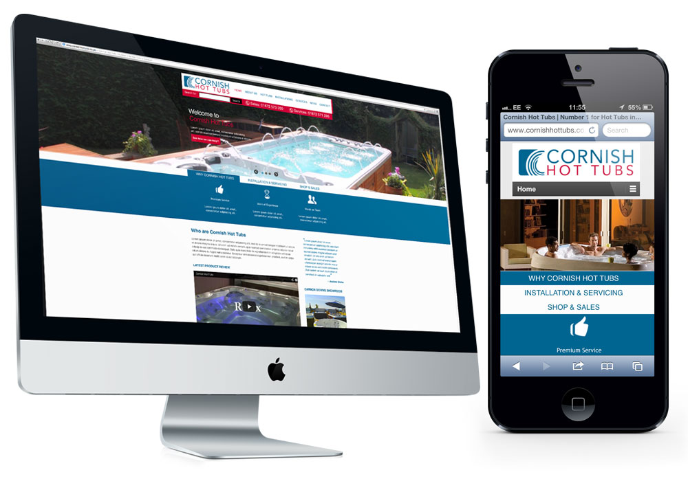 Cornish Hot Tubs Website Design