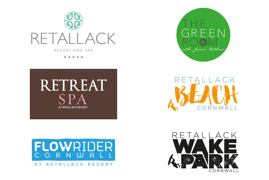 Retallack Resort Logo Design Cornwall