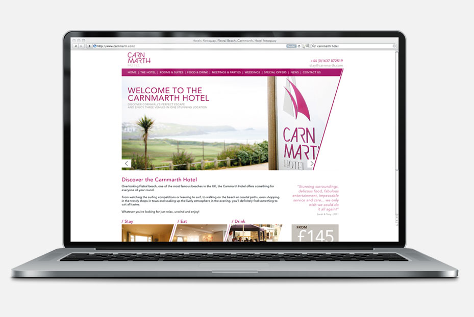 Carnmarth Hotel Website Design