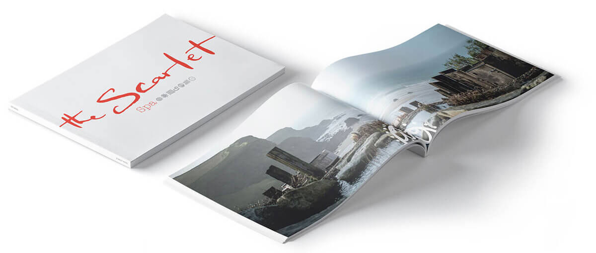 The Scarlet Hotel - Spa Brochure Print Design by Oracle