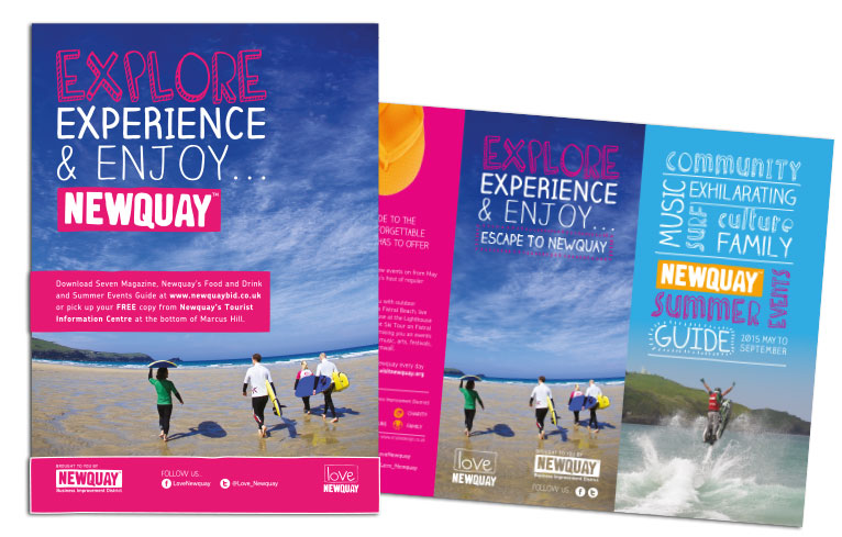 Newquay BID brochure design