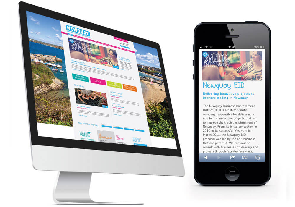 Newquay BID Web Design