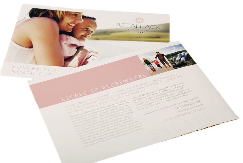 Brochure design Retallack Resort Cornwall