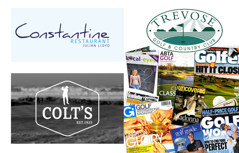 Trevose Golf Club logo design Cornwall