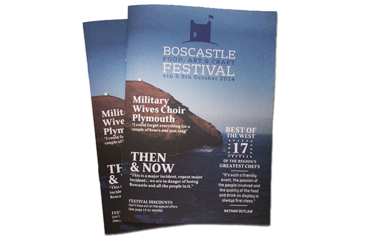 Boscastle Festival Brochure Design
