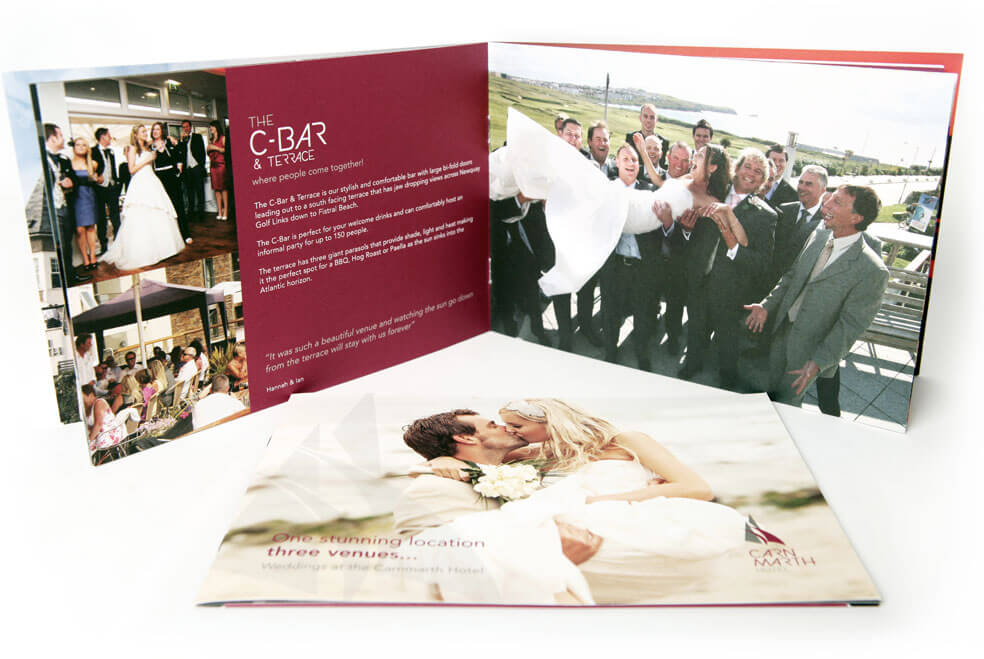 Carnmarth Hotel Wedding Brochure Design