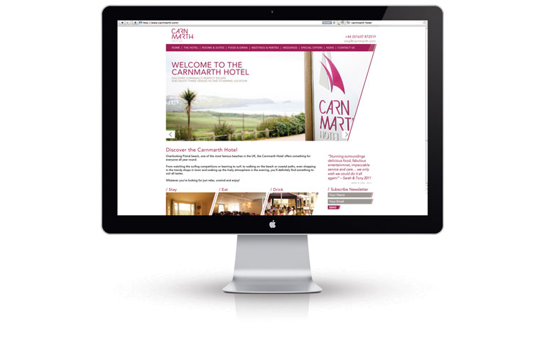 Carnmarth Hotel Web Design