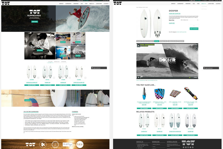 Website shop design cornwall