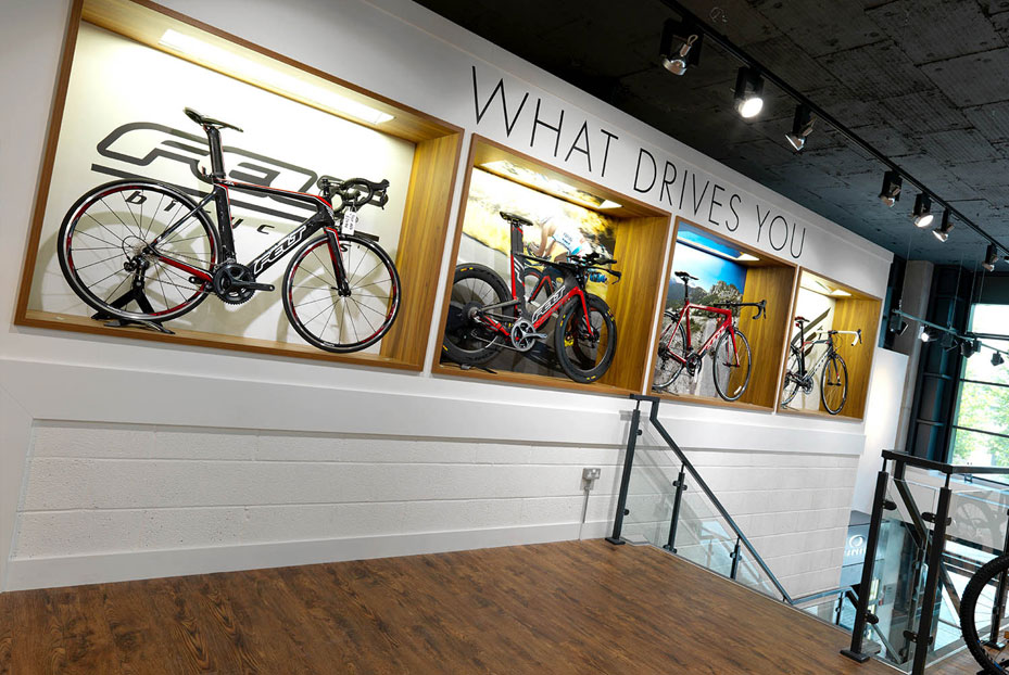Interior design Triathlon Shop Bristol