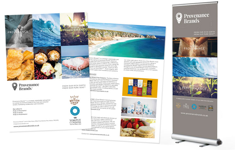 A4 Folder and Roller Banner design Cornwall