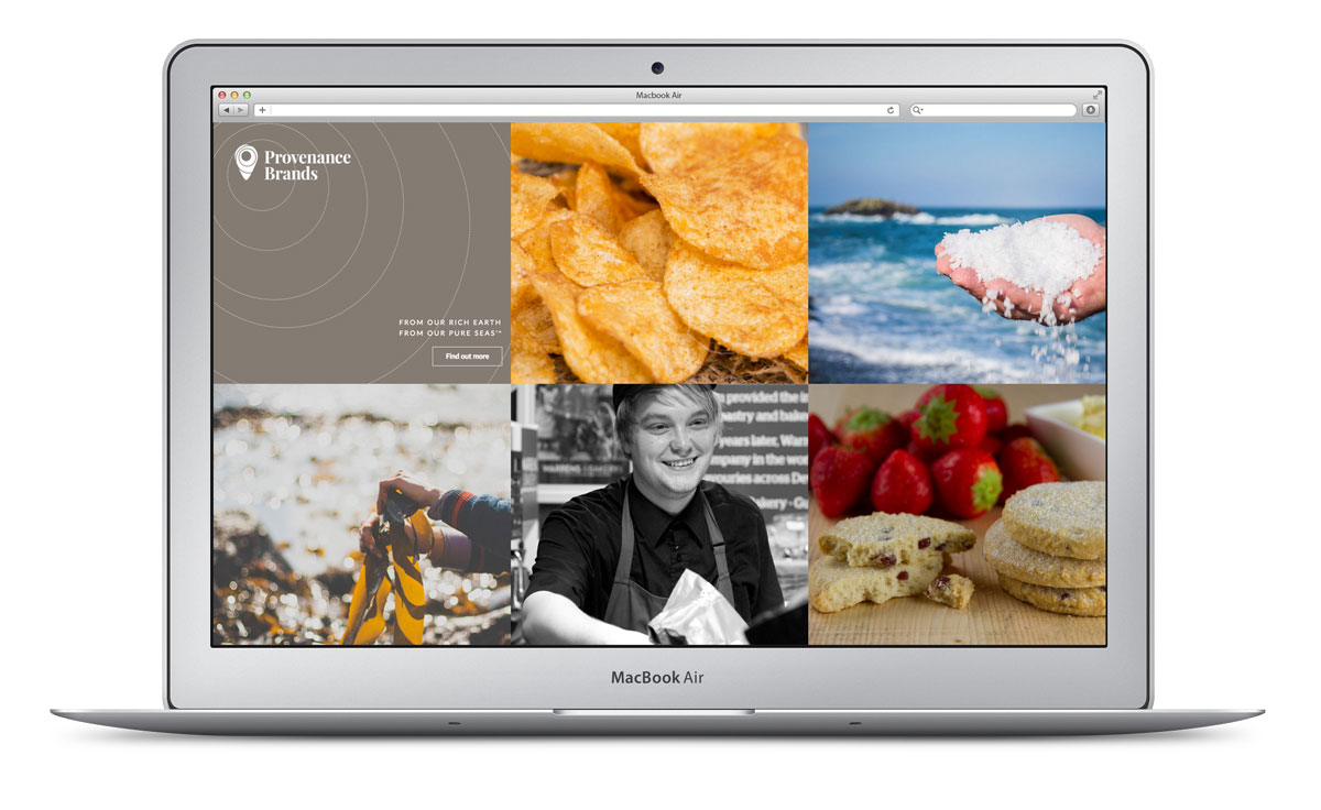 Provenance Brands Website Design Cornwall