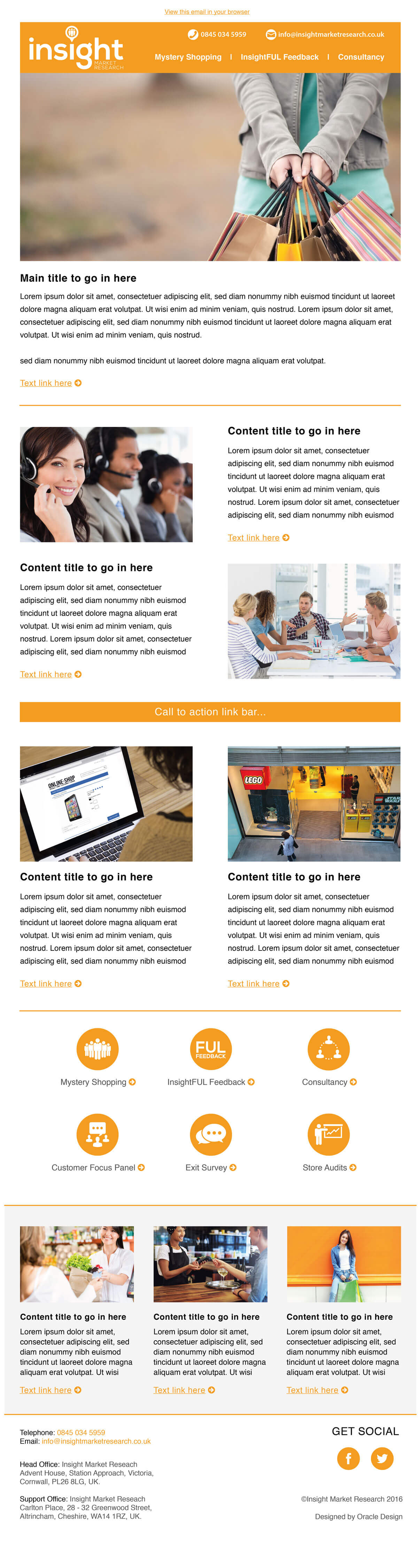 Email newsletter design Cornwall