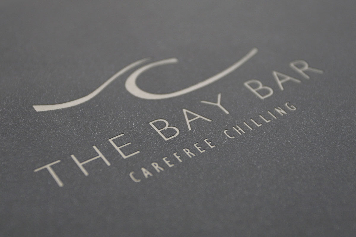 Restaurant menu design Bay Bar