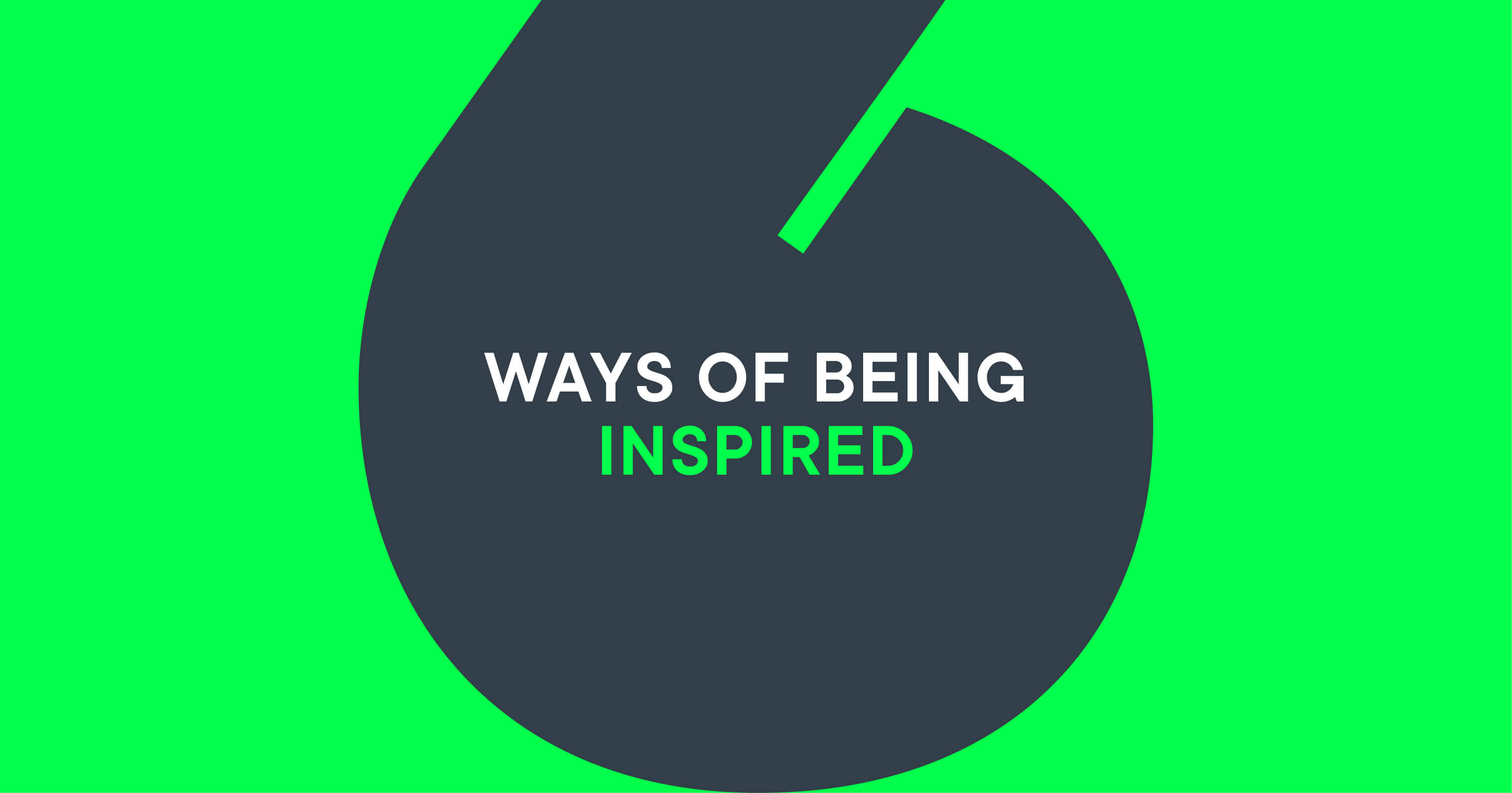 Inspired Design Web - 6 Ways of being inspired as a Designer